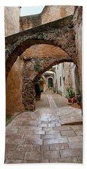 The Archways Of Villecroz Bath Towel by Jacqi Elmslie