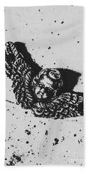 The Art Of A Vintage Angel Hand Towel