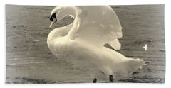 The Art Of The Swan  Hand Towel