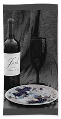 The Art Of Wine And Grapes Bath Towel by Sherry Hallemeier