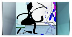 The Artist 2 Bath Towel by Iris Gelbart