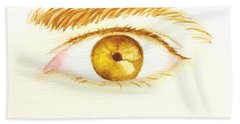 Bath Towel featuring the painting The Artist's Eye by Stacy C Bottoms