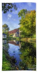 The Autumn Pond Hand Towel by Ian Mitchell