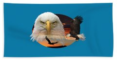 Bath Towel featuring the photograph The Bald Eagle 2 by Shane Bechler
