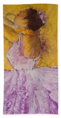 The Ballet Dancer Bath Towel by David Patterson