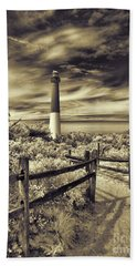 The Barnegat Lighthouse New Jersey Bath Towel