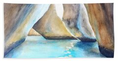 The Baths Water Cave Path Hand Towel