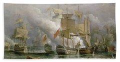 The Battle Of Cape St Vincent Bath Towel