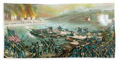 The Battle Of Fredericksburg Bath Towel