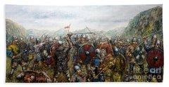 The Battle Of Haugsnes Bath Towel