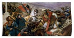 The Battle Of Poitiers Hand Towel