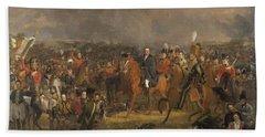 The Battle Of Waterloo,1824 Bath Towel