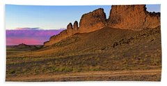Bath Towel featuring the photograph The Battlements Of Shiprock - New Mexico - Landscape by Jason Politte