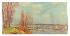 The Bay And The River Bath Towel