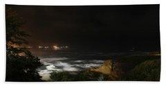 The Bay At Night Bath Towel by Katie Wing Vigil
