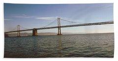 The Bay Bridge- By Linda Woods Bath Towel