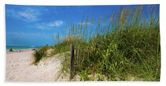 The Beach At Pine Knoll Shores Bath Towel by John Harding
