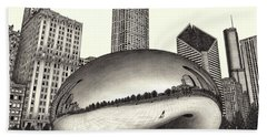 The Beach Chicago Drawing Hand Towel