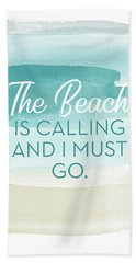 The Beach Is Calling- Art By Linda Woods Hand Towel
