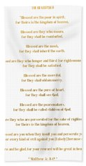 The Beatitudes Gospel Of Matthew Hand Towel