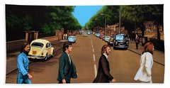 The Beatles Abbey Road Hand Towel by Paul Meijering