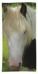 The Beautiful Face Of A Gypsy Vanner Horse Bath Towel