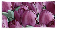 The Beauty And Depth Of A Bed Of Tulips Bath Towel