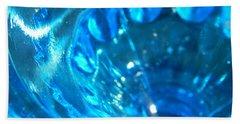 The Beauty Of Blue Glass Bath Towel