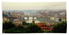 Bath Towel featuring the photograph The Beauty Of Florence  by Alan Lakin