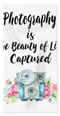 Hand Towel featuring the digital art The Beauty Of Life by Colleen Taylor