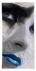 The Beauty Regime Blue Bath Towel by ISAW Gallery