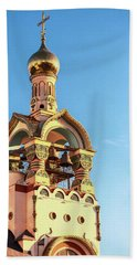 The Bell Tower Of The Temple Of Grand Duke Vladimir Bath Towel