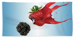 Hand Towel featuring the photograph The Berries by Juli Scalzi