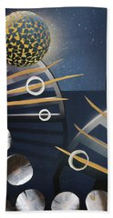 Bath Towel featuring the painting The Big Bang by Michal Mitak Mahgerefteh