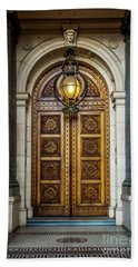 Bath Towel featuring the photograph The Big Doors by Perry Webster
