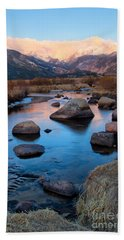 The Big Thompson River Flows Through Rocky Mountain National Par Hand Towel by Ronda Kimbrow
