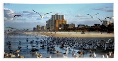 Bath Towel featuring the photograph The Birds by Jim Hill
