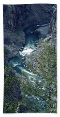Bath Towel featuring the painting The Black Canyon Of The Gunnison by RC DeWinter