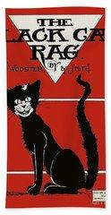 The Black Cat Rag 1905 Sheet Music Art Hand Towel