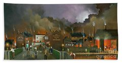 Hand Towel featuring the painting The Black Country Museum 2 by Ken Wood