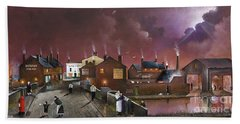 Hand Towel featuring the painting The Black Country Museum by Ken Wood