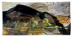 The Black Mountain Bath Towel by Nancy Kane Chapman