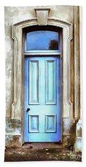 The Blue Door Bath Towel by Edward Fielding