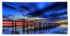 The Blue Hour Comes To St. Marks #1 Hand Towel