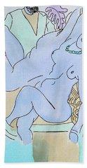The Blue Nude Hand Towel