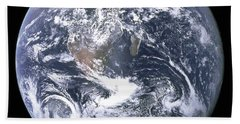 The Blue Planet - The Blue Marble  By Apollo 17 Hand Towel