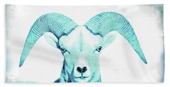 Hand Towel featuring the photograph The Blue Ram by Jennie Marie Schell