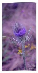 The Blue Softness Of A Teasel Hand Towel by Michelle Meenawong