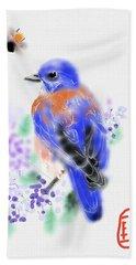 The Bluebird Sings  Hand Towel