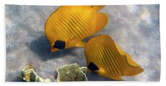 The Bluecheeked Butterflyfish Bath Towel